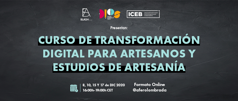 Sesión informativa de la segunda edición del Curso Internacional de Transformación Digital para Artesanos y Estudios de Artesanía