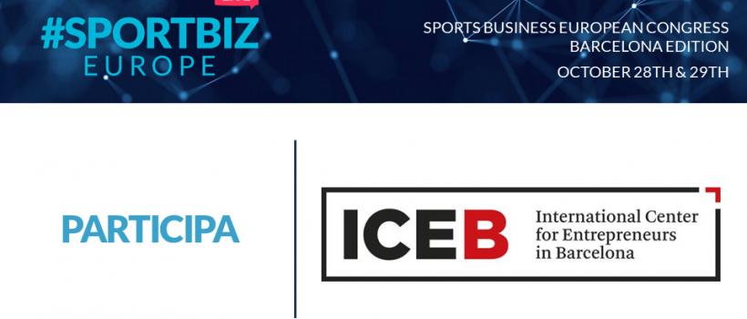 """El ICEB colabora en la primera edición del SPORTBIZEUROPE LIVE (Edición Online), con el lema """"Conocimiento, networking y oportunidades de negocio""""."""