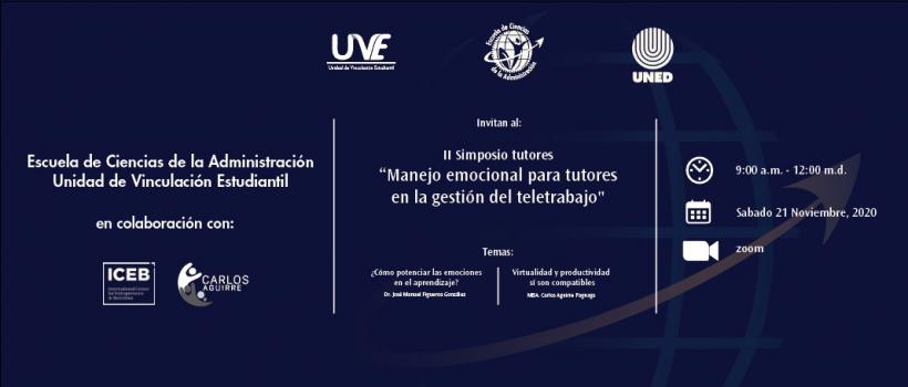 conferencia en el marco de II Simposio de tutores organizado por la ECA de la Universidad Nacional de Educación a Distancia