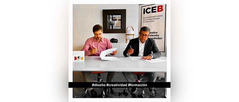 Firman acuerdo de cooperación el ICEB y el Design Institute of  Spain (DIoS)